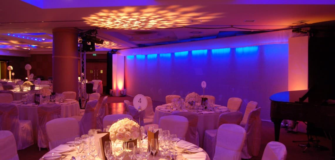 Events room with stage