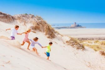 Summer Fun - Family on the beach & sand dune s at Le Braye, St Ouen