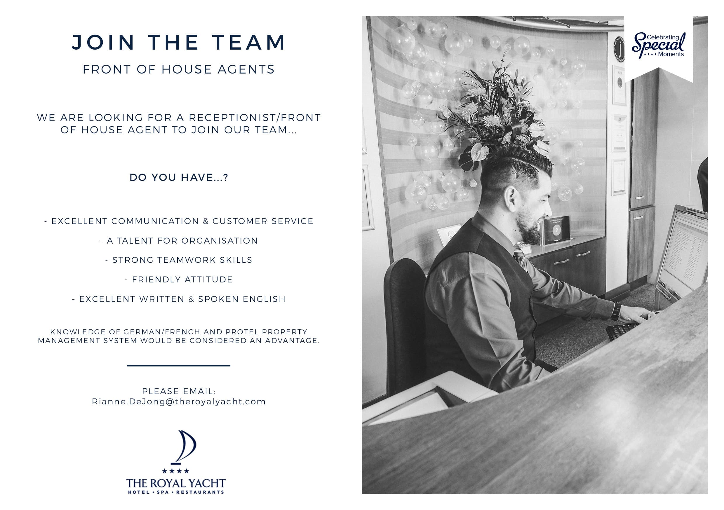 Join the team | Receptionist